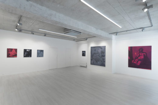 Installation view at Gallery Čin Čin, Bratislava, Slovakia, 2017
